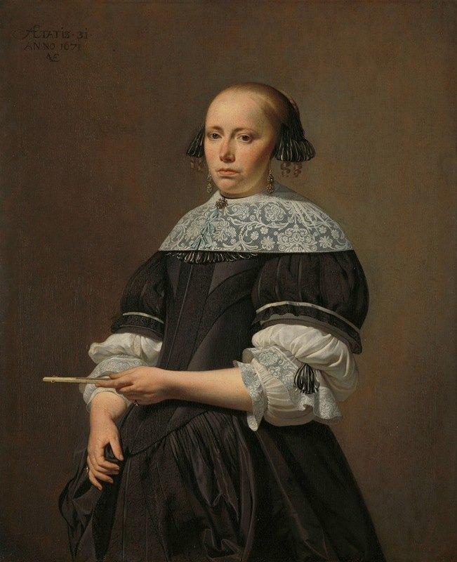 Caesar Van Everdingen - Elisabeth van Kessel (1640-1717), Wife of Willem Jacobsz Baert