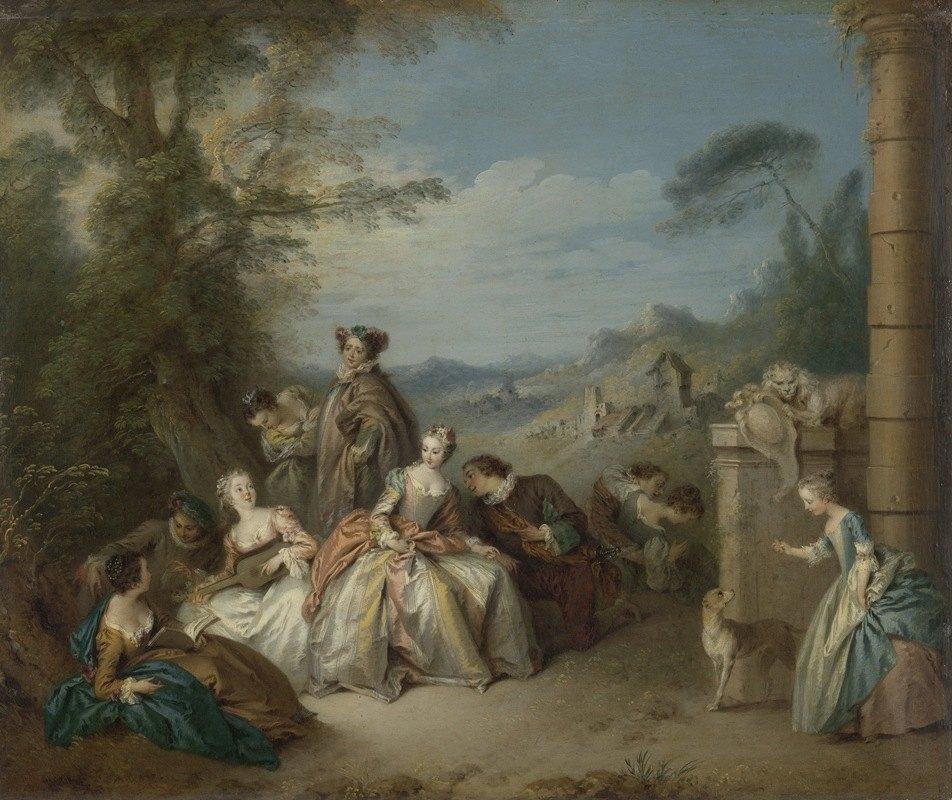 Jean-Baptiste Pater - Fête galante in a Landscape