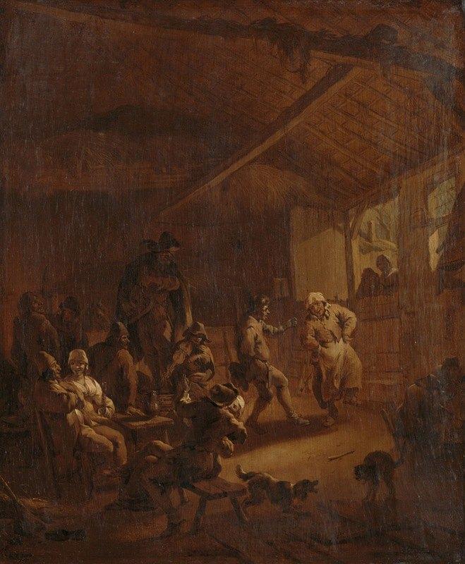 Nicolaes Pietersz. Berchem - Peasants Dancing in a Barn