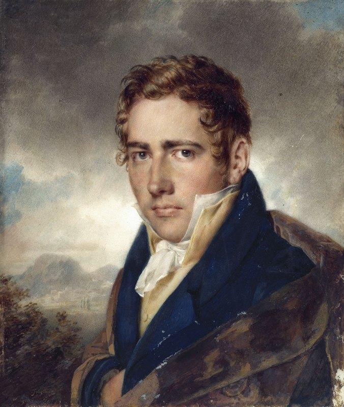 Alexandre Evariste Fragonard - Portrait présumé de l'architecte Auguste Constantin (1790-1842)