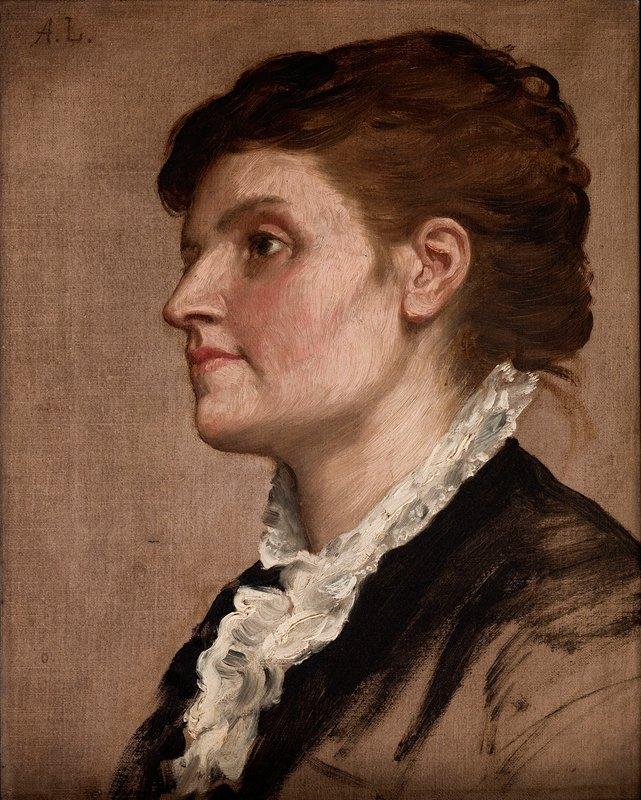 Alphonse Legros - Portrait de femme
