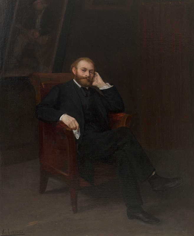 Alphonse Legros - Portrait d'Edouard Manet