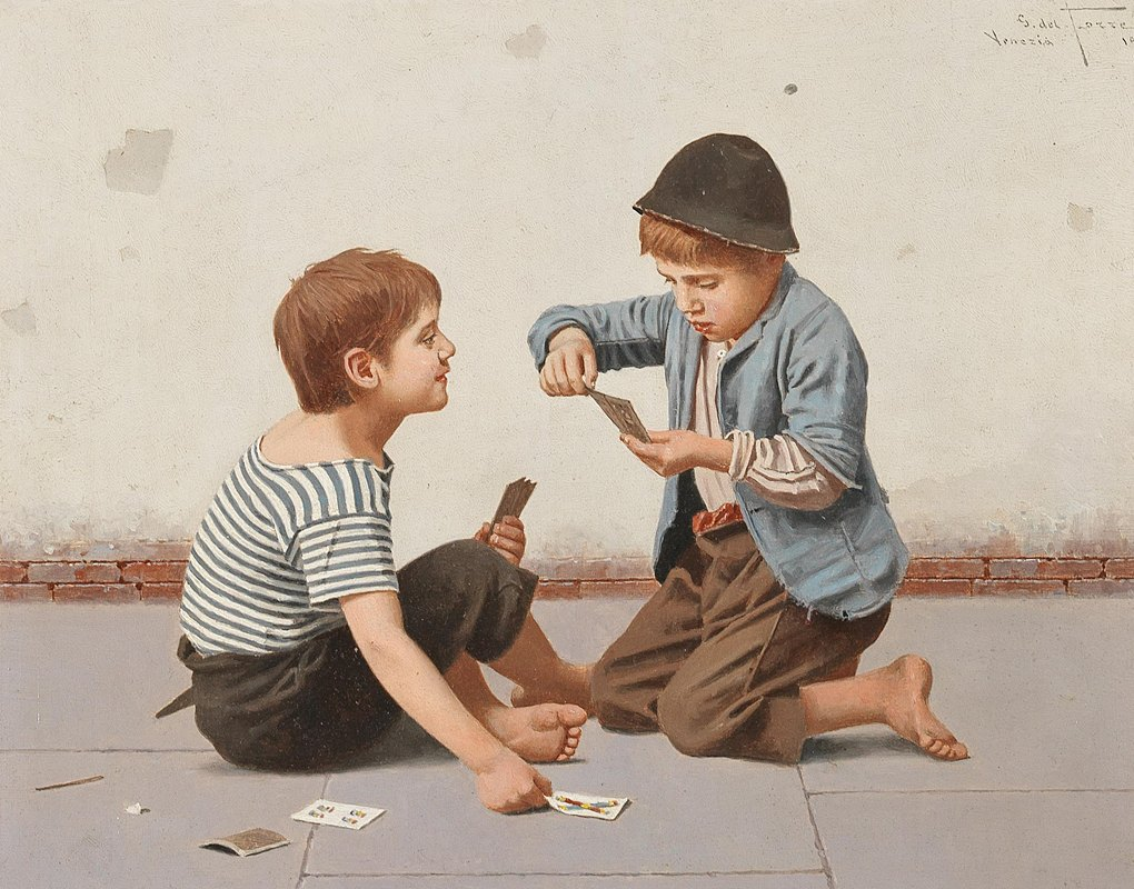 Giulio del Torre - Two Card Players