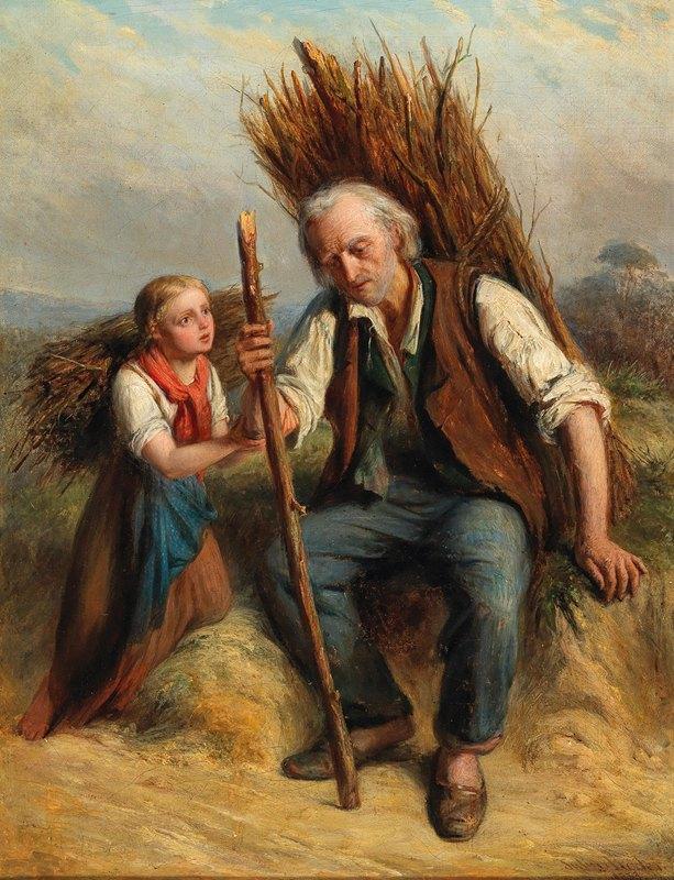 Julius Sigismund Röder - Resting on the Way Home