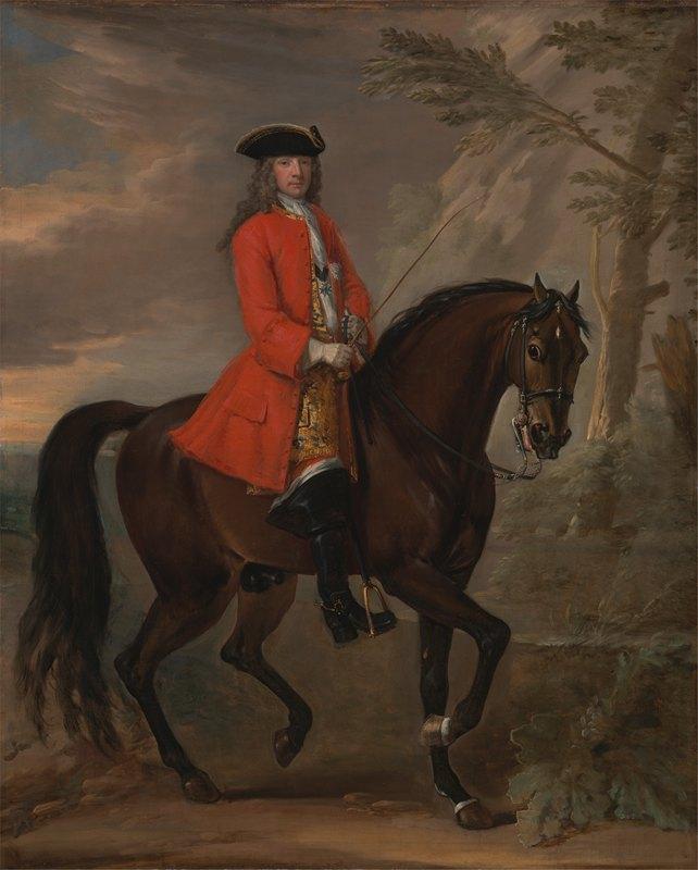 John Wootton - Portrait of a Man on Horseback