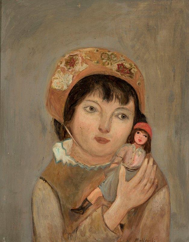 Tadeusz Makowski - Little girl with a doll