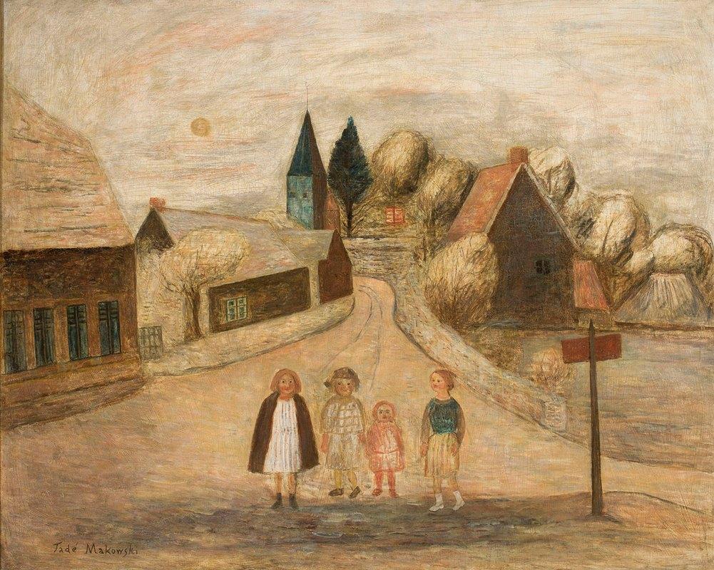 Tadeusz Makowski - Norman landscape (Breuilpont)