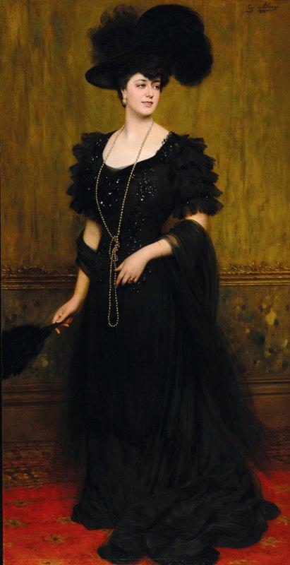 Eugen von Blaas - Portrait of Madame Lebreton