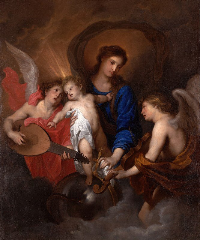 Anthony van Dyck - Virgin and Child with Music-MakingAngels