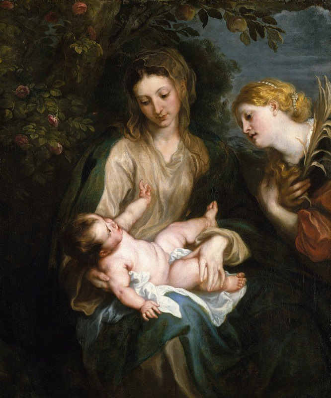 Anthony van Dyck - Virgin and Child with Saint Catherine of Alexandria