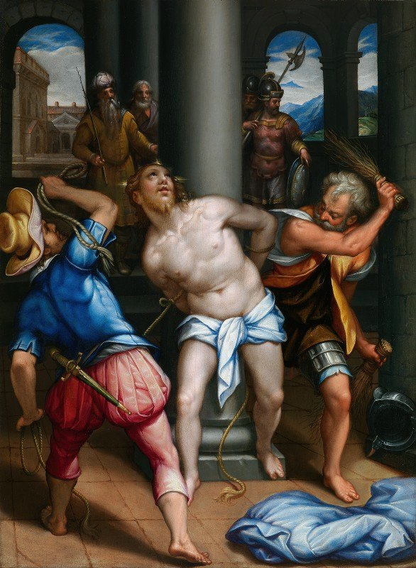 Denys Calvaert - CHRIST AT THE COLUMN