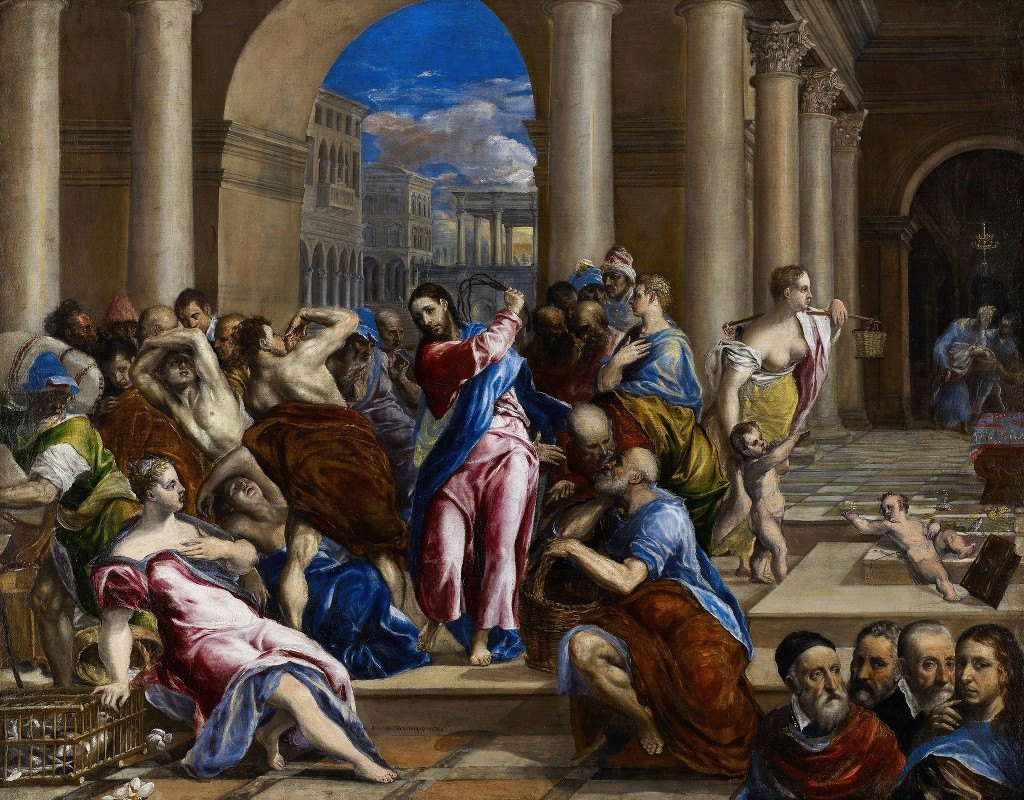 El Greco (Domenikos Theotokopoulos) - Christ Driving the Money Changers from the Temple