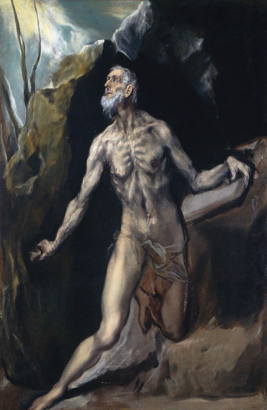 El Greco (Domenikos Theotokopoulos) - Saint Jerome