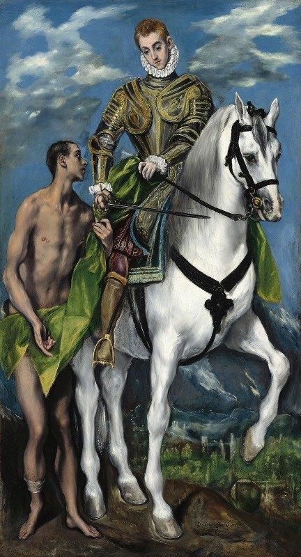 El Greco (Domenikos Theotokopoulos) - Saint Martin and the Beggar