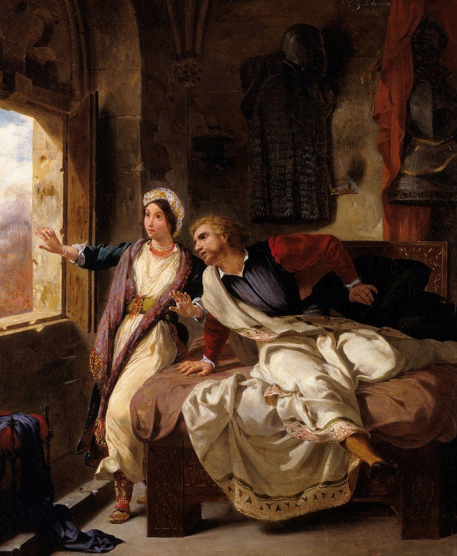 Eugène Delacroix - Rebecca and the Wounded Ivanhoe