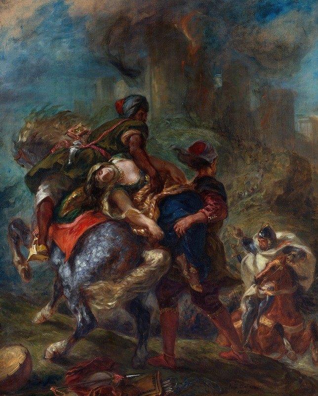 Eugène Delacroix - The Abduction of Rebecca