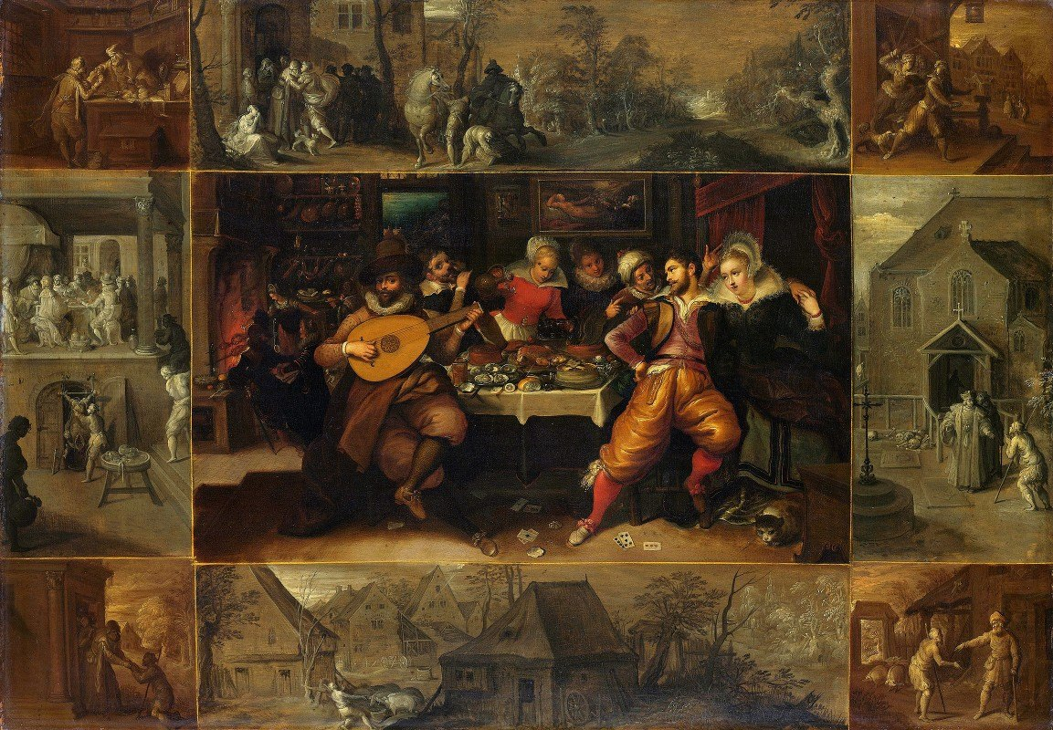 Frans Francken the Younger - The Story of the Prodigal Son