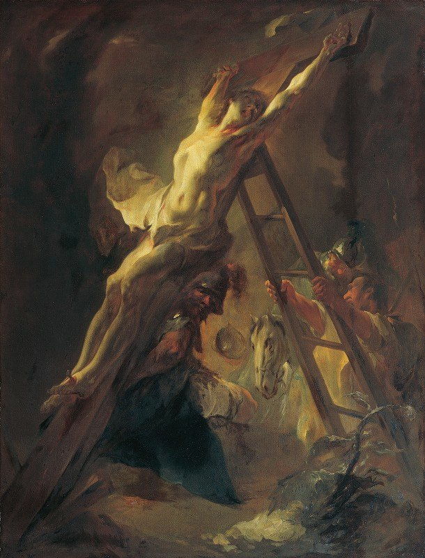 Franz Anton Maulbertsch - The cross erection
