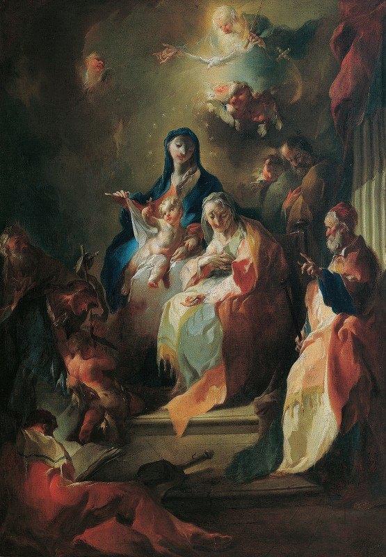 Franz Anton Maulbertsch - The Holy Kinship