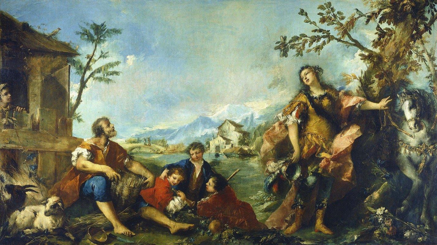 Giovanni Antonio Guardi - Erminia and the Shepherds