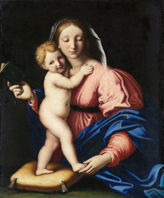 Giovanni Battista Salvi da Sassoferrato - Virgin and Child