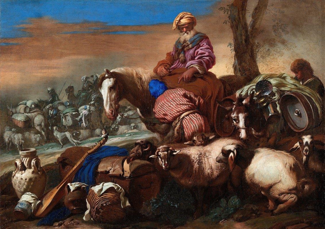 Giovanni Benedetto Castiglione - The Oath of Abraham's Servant