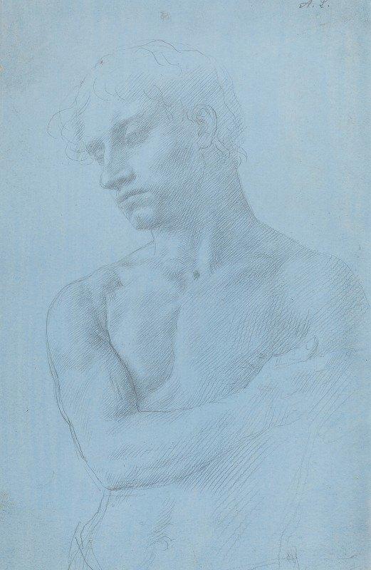 Alphonse Legros - Bust of Nude Man