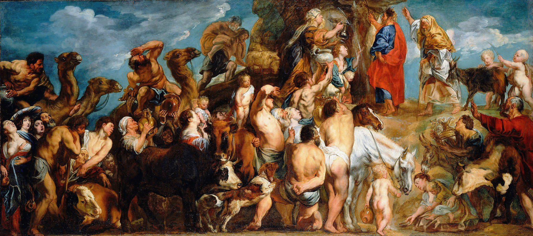 Jacob Jordaens - Moses Striking Water from the Rock