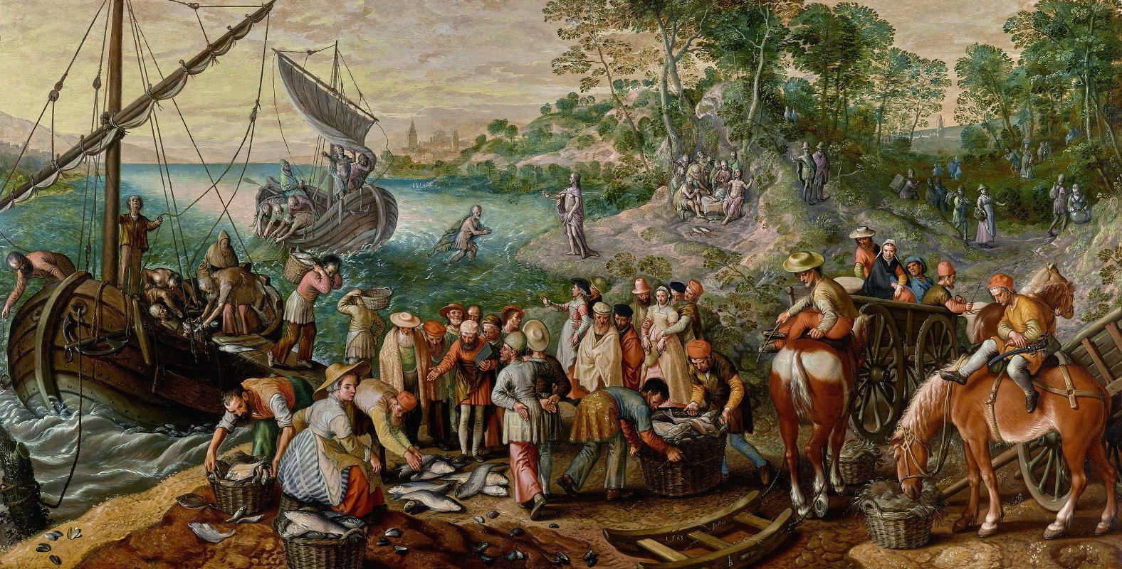 Joachim Beuckelaer - The Miraculous Draught of Fishes