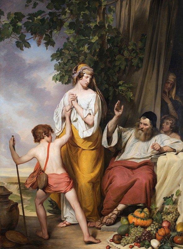 Josef Danhauser - Abraham rejects Hagar and Ismael