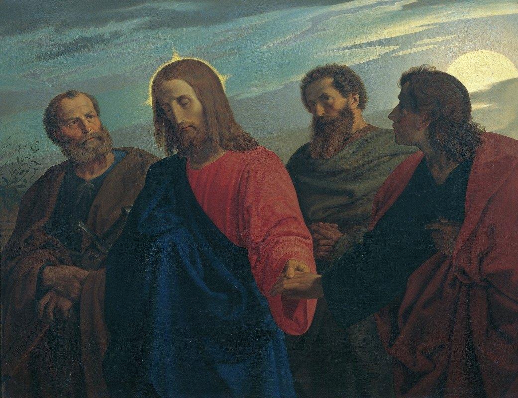 Joseph von Führich - Christ's Farewell to His Disciples (Going to Gethsemane)