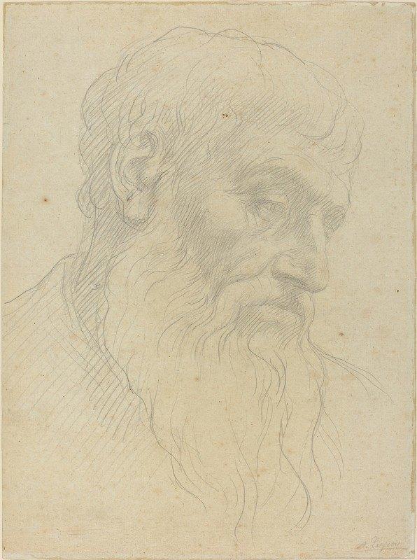 Alphonse Legros - Study of a Head
