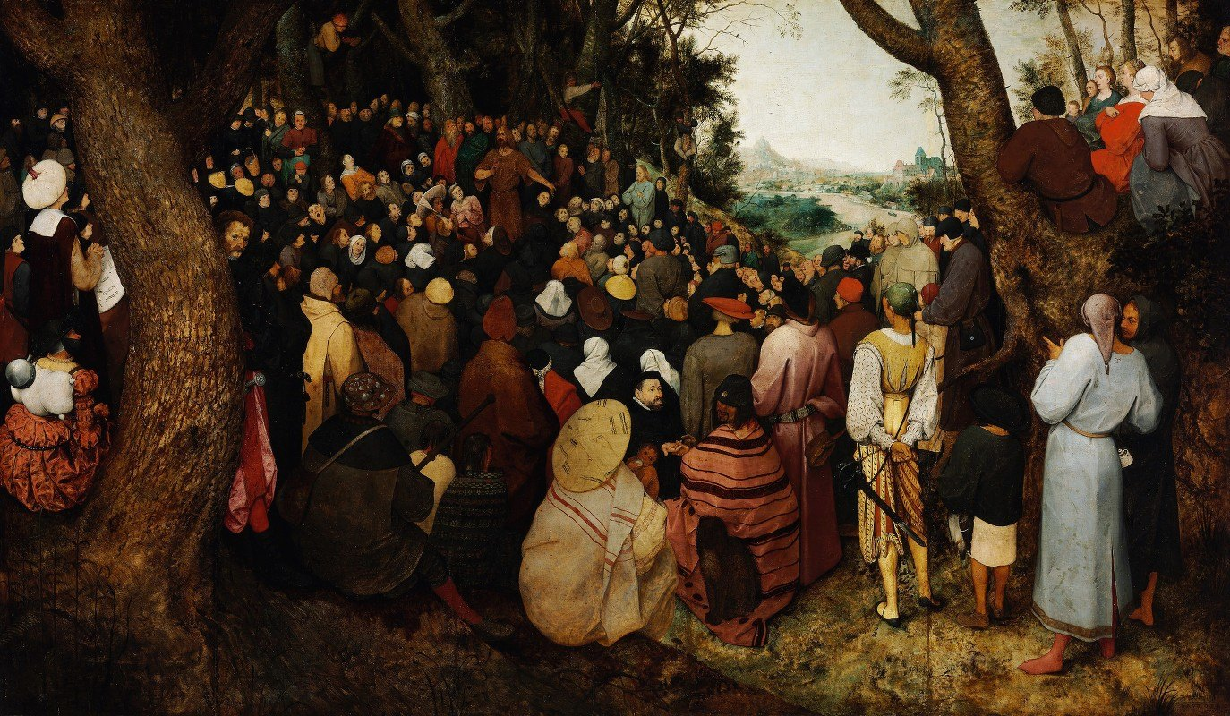 Pieter Bruegel The Elder - The Sermon of Saint John the Baptist