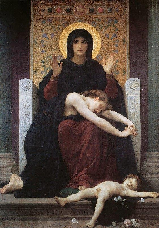 William-Adolphe Bouguereau - Virgin Comforter