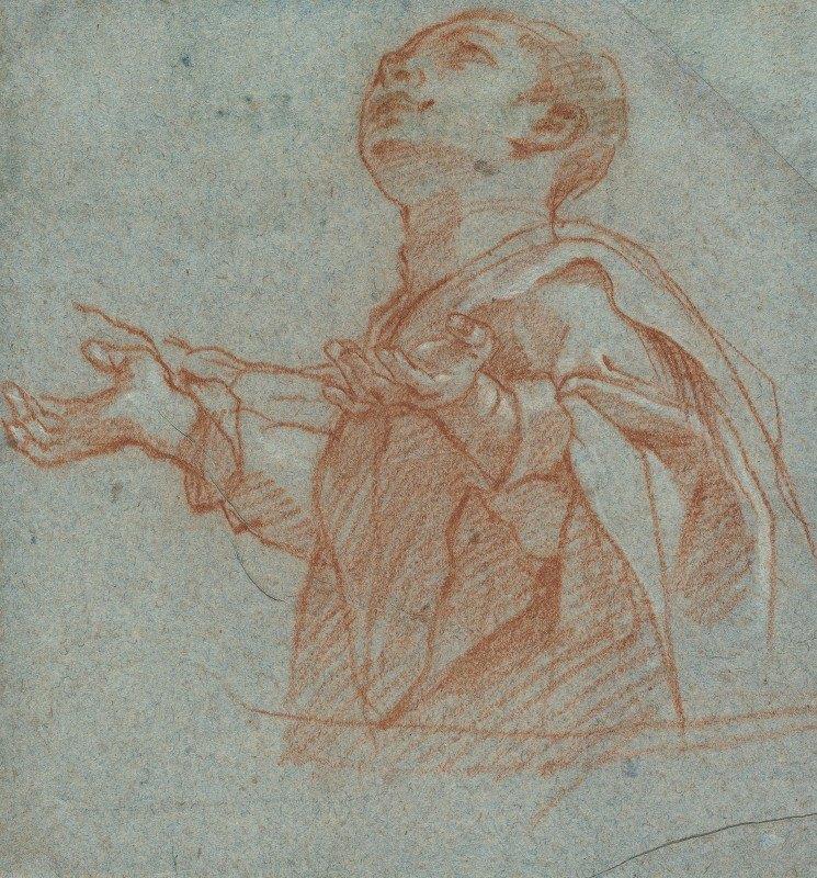 Bartolomeo Cesi - A Boy Gazing Upward in Adoration