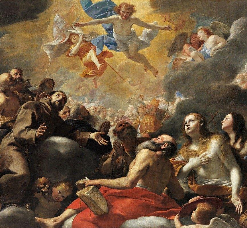 Mattia Preti - Christ In Glory With Saints