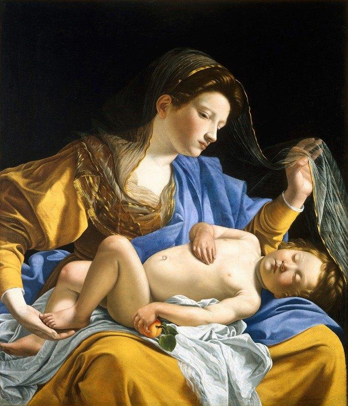 Orazio Gentileschi - The Virgin with the Sleeping Christ Child