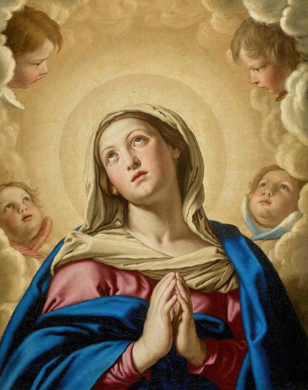 Giovanni Battista Salvi da Sassoferrato - The Virgin In Prayer Surroundedby Putti