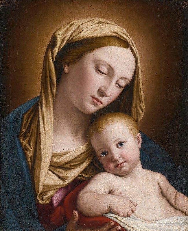 Giovanni Battista Salvi da Sassoferrato - Madonna And Child