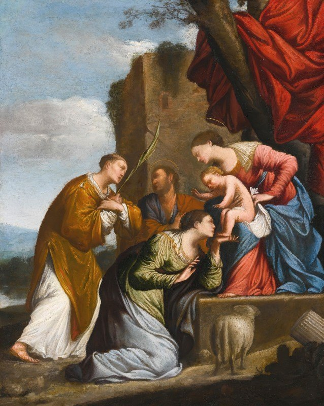 Jean Le Clerc - Adoration Of The Christ Child, With Three Saints