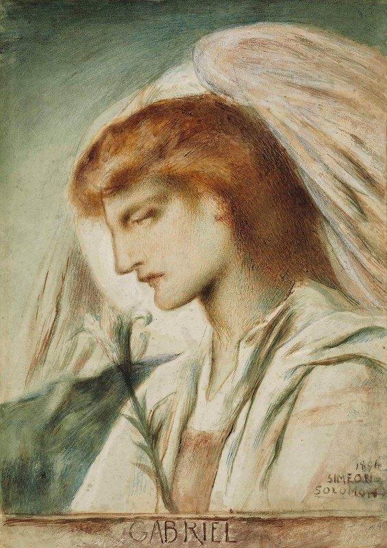 Simeon Solomon - The Archangel Gabriel