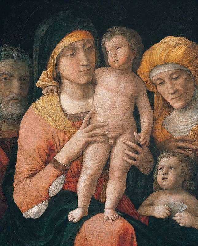 Andrea Mantegna - The Madonna And Child With Saints Joseph, Elizabeth, And John The Baptist