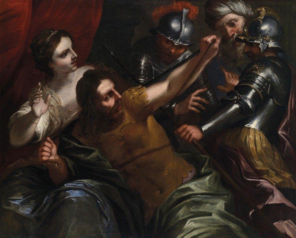 Bartolomeo Biscaino - Samson And Delilah