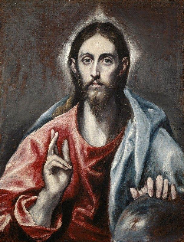 El Greco (Domenikos Theotokopoulos) - Christ Blessing ('the Saviour Of The World')