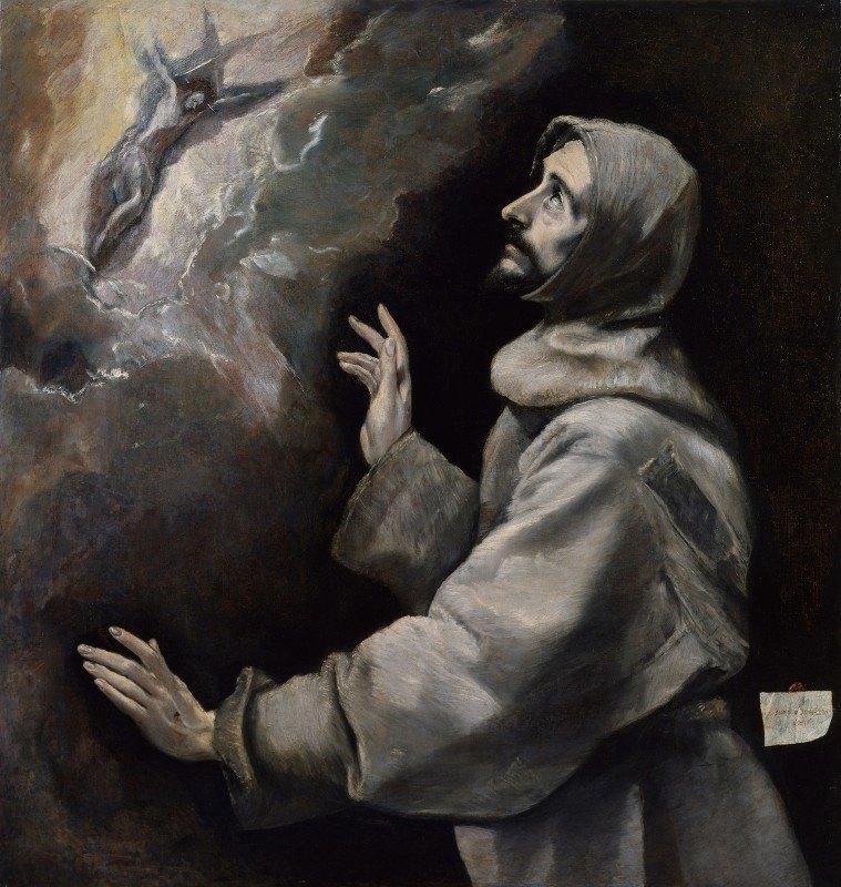 El Greco (Domenikos Theotokopoulos) - Saint Francis Receiving The Stigmata