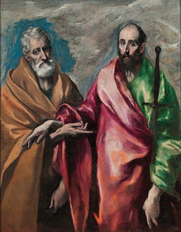 El Greco (Domenikos Theotokopoulos) - Saint Peter And Saint Paul