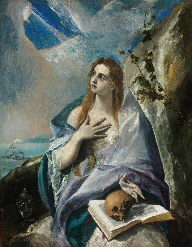 El Greco (Domenikos Theotokopoulos) - The Penitent Magdalene