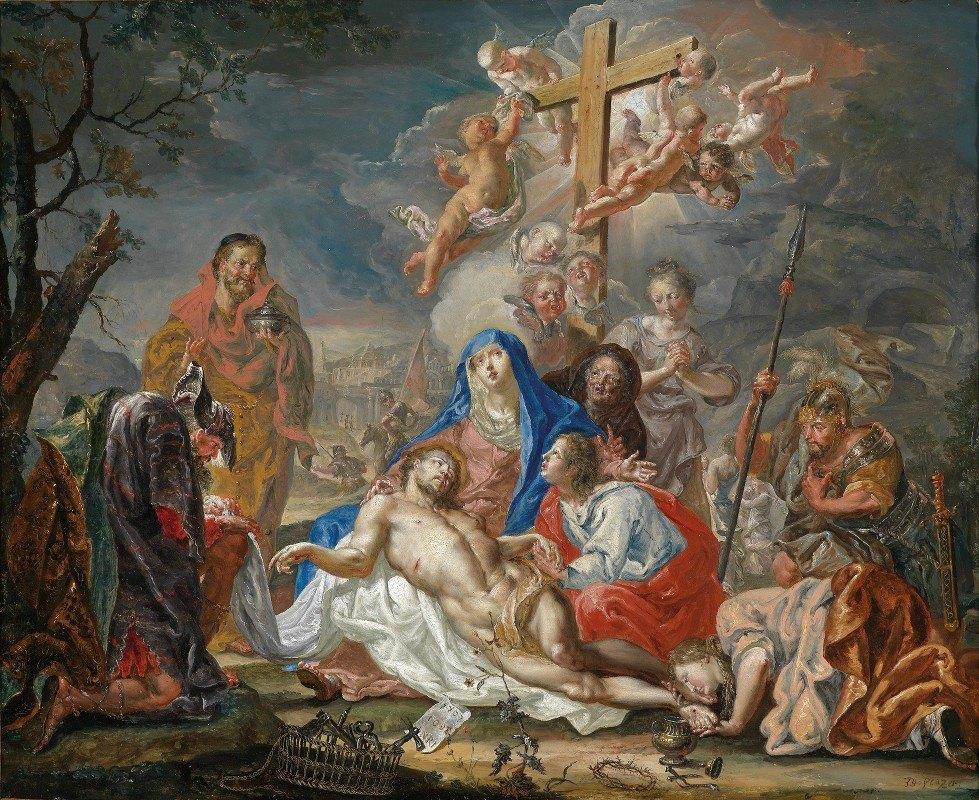 Johann Georg Platzer - Die Beweinung Christi
