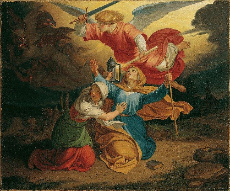 Joseph von Führich - Versuchung Der Heiligen Gudula