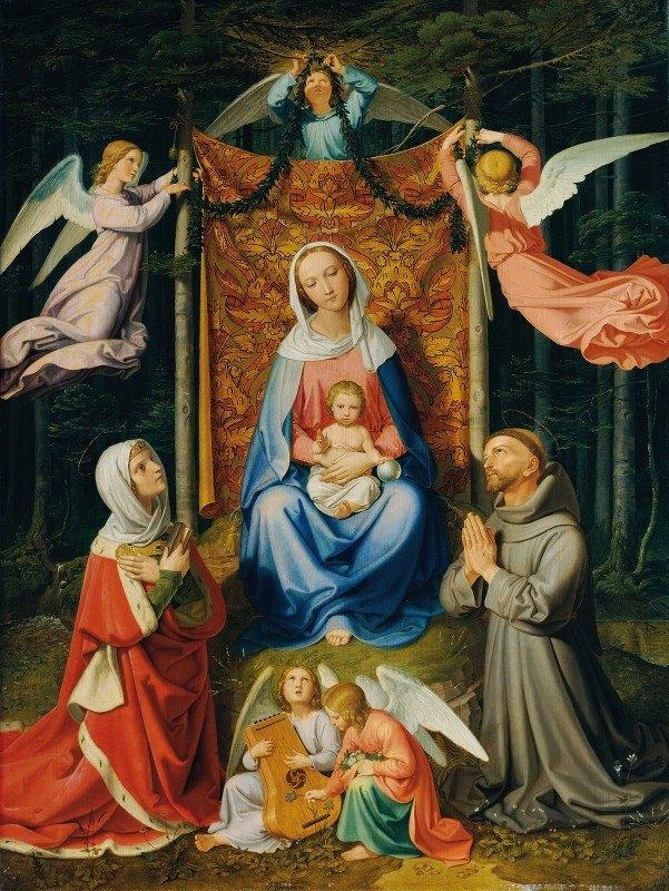Joseph von Führich - Waldesruhe (Madonna Mit Kind, Hl. Adelheid Und Hl. Franziskus)